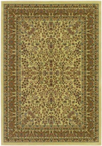 Izmir-Floral Mashhad/Ivory, 2' x 3'11