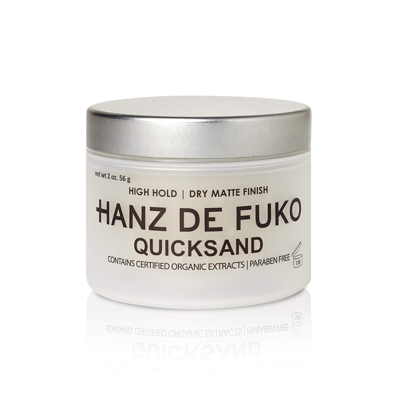 Hanz de Fuko Quicksand: Premium Men's Hair Styling Wax and Dry Shampoo Combo with Ultra-Matte Finish (2oz)