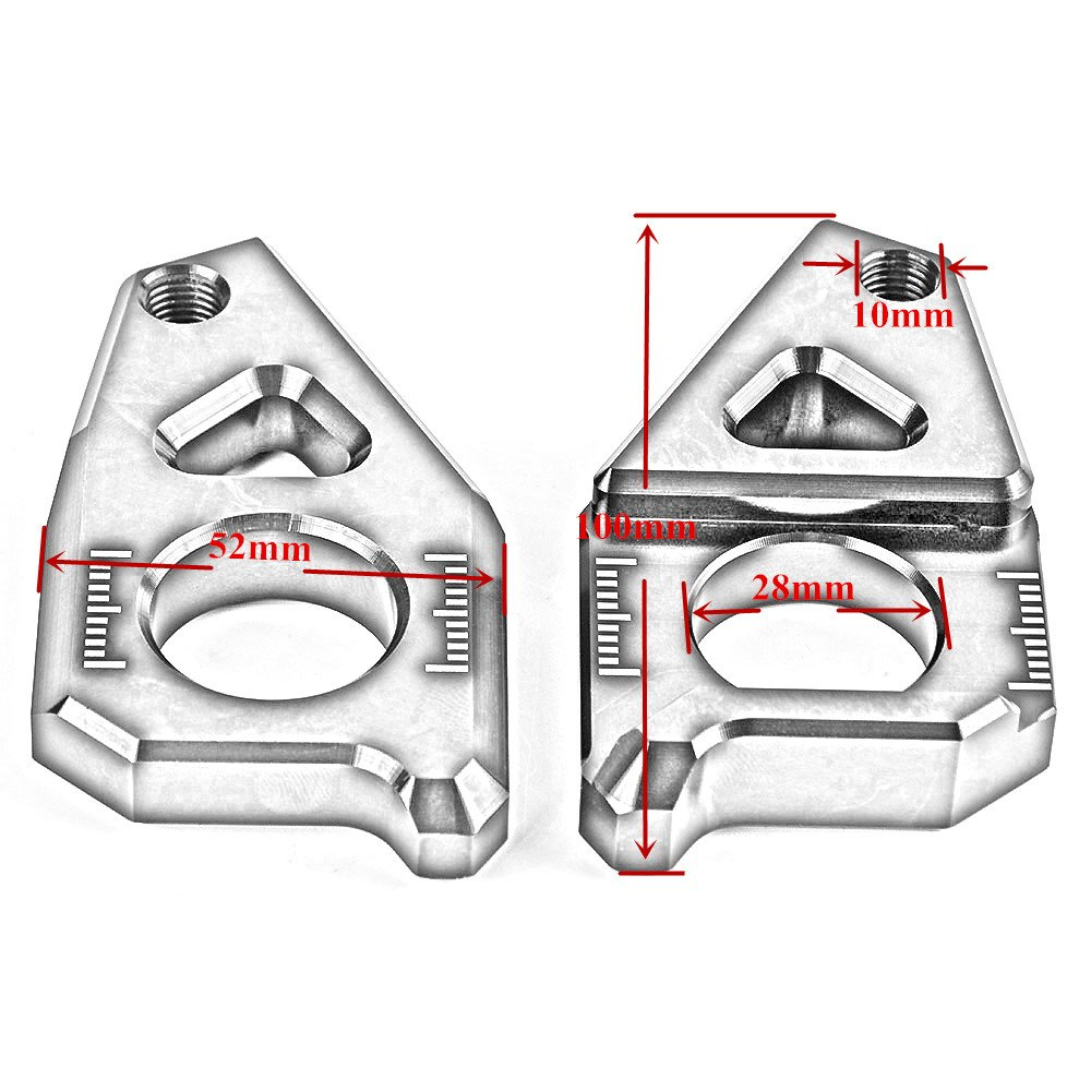 /15/FZ1/06/ /2015/FZ8/12/ /15/YZF-R1/05/ /15 nawenson alta calidad motocicleta CNC eje trasero eje tensor de la cadena bloques para Yamaha T Max 530/2012/
