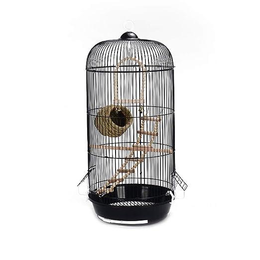 HIZLJJ Mascotas Black Arched Top Companion Jaula de pájaros Retro ...