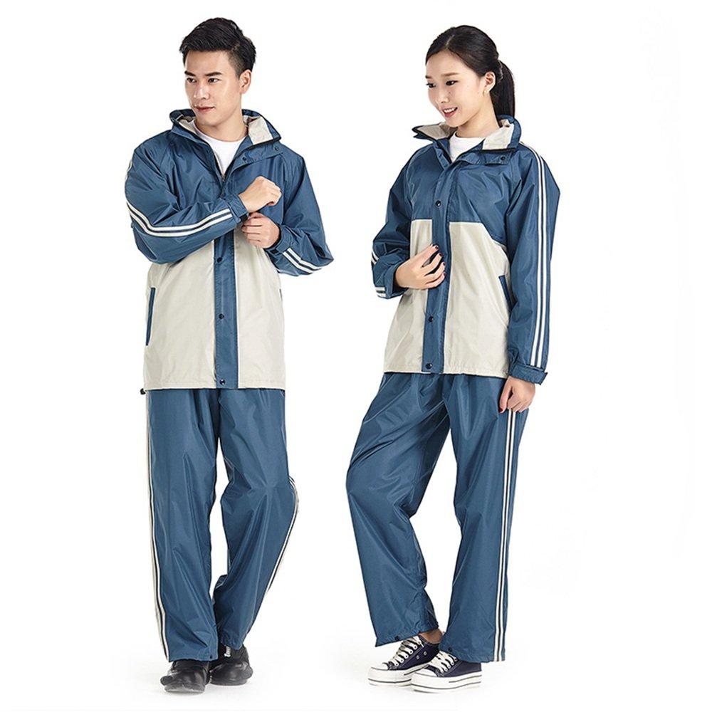 grand DMMW Imperméable Les Hommes et Les Femmes combattent la Couleur Split Split Suit Suit épaississeHommest Adulte VêteHommests de Pluie d'extérieur (Taille   L)
