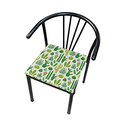 "Bardic HNTGHX Outdoor/Indoor Chair Cushion Summer Succulent Cactus Square Memory Foam Seat Pads Cushion for Patio Dining, 16"" x 16"": Home & Kitchen"