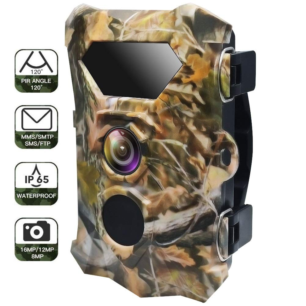 HCATNcame Huting Trail Camera 1080P Waterproof Hunting Scouting Cam for Wildlife Monitoring with Motion Activated Night Vision up to 65ft/20m, 120°Detect Range