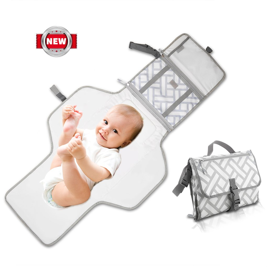 Portable Baby Changing Pad with Pockets Diaper Changing Mat Station YOOSKE Waterproof Multi-use Home Change Mat Organizer Bag for Toddlers Infants and Newborns