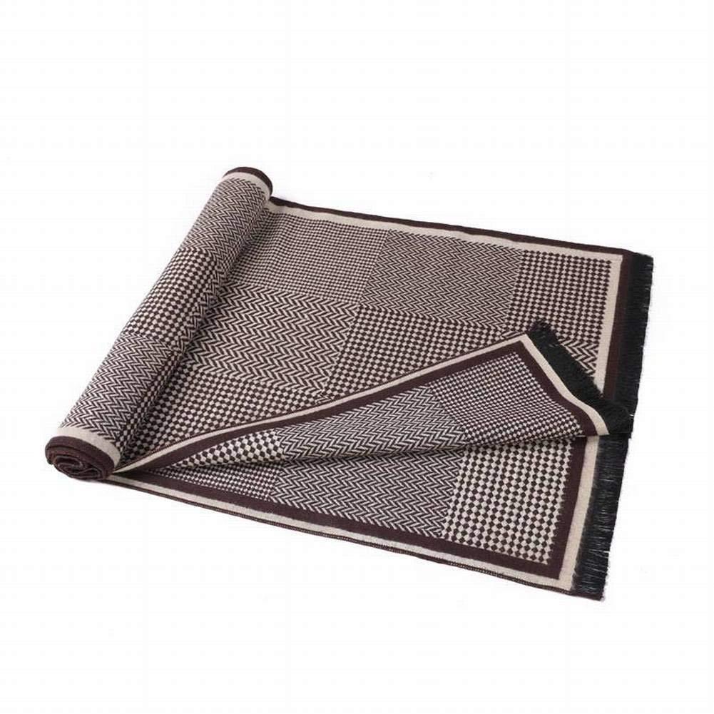 MTX Ltd Sweet Tassel Otoño Silk Male Warm Stripes Mid-Length Otoño Tassel and Invierno Outdoor Multi-Functional Fgreyion Trend Wild Warm Shawl Scarf Gift, Rojo Gris b6b731