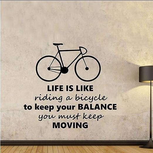 tzxdbh La Vida es como Montar una Bicicleta Pegatinas de Pared ...