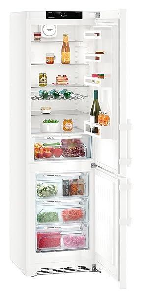 Liebherr CN 4815 Comfort NoFrost Freestanding 260L 101L A + + + White –  Freestanding Fridge Freezer, White, Right, Touch, Steel, Glass)