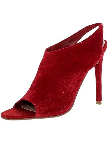 e1e06bd5c7f1a Amazon.com   Steve Madden Women's Sans Suede Red Slingback - 8M   Pumps