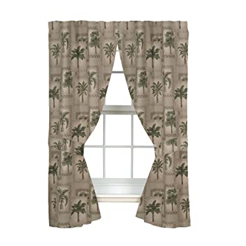 Charming Palm Tree Curtains   84u0026quot; ...