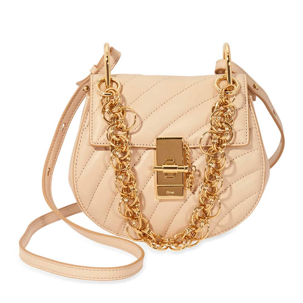 5fb8596996 Chloe Mini Drew Bijou Quilted Leather Bag- Pearl Beige: Amazon.co.uk ...