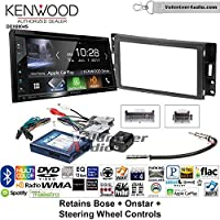 Volunteer Audio Kenwood Excelon DDX6904S Double Din Radio Install Kit with Satellite Bluetooth & HD Radio Fits 2004-2006 Pontiac GTO With Bose, Onstar, SWC