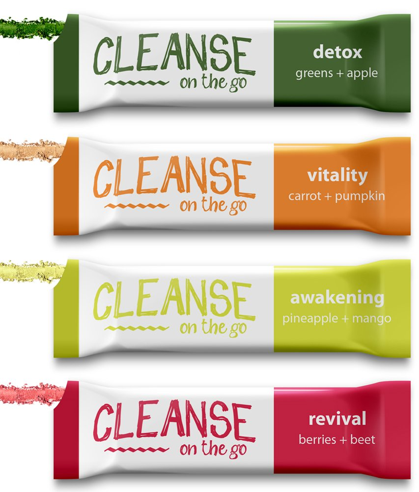 1 Day Juice Cleanse - Just Add Water & Enjoy - 7 Single Serving Powder Packets