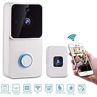 YOMYM Video Doorbell | avec Alertes Activées par Détection de Mouvement PIR, Vidéo 1080P HD Caméra et Système Audio Bidirectionnel, Vision Nocturne, Télécommande à Distance (Sonnette vidéo)
