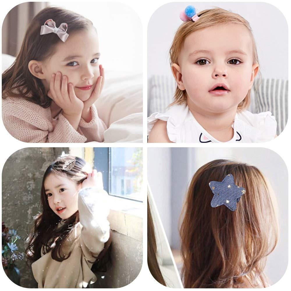 Pinces A Cheveux Pour Cadeau Enfants, 24 Pi/èce Enfants Barrettes Accessoires De Cheveux Cadeaux Danniversaire Pour 0-8 Ans Fille