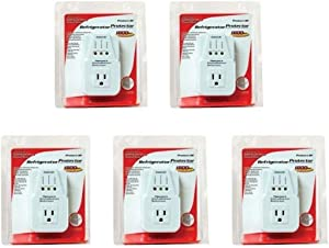 5 Pack AC Voltage Protector Brownout Surge Refrigerator 1800 Watt Appliance