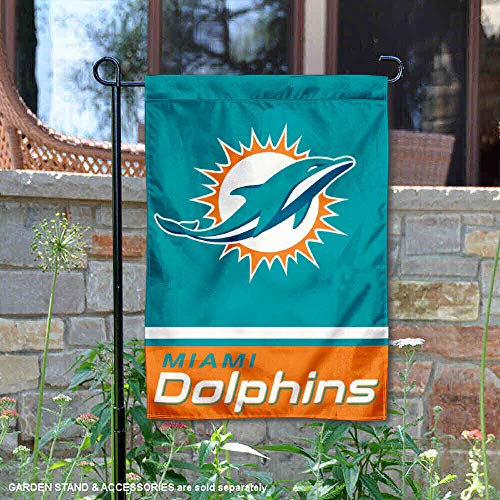 (WinCraft Miami Dolphins Double Sided Garden)