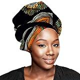 "African Head Wraps 45""x36"" African Wax Print Head"