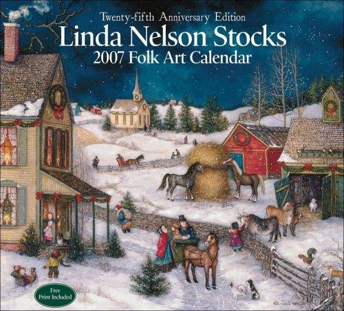 Linda Nelson Stocks Folk Art 2007 Wall Calendar ()