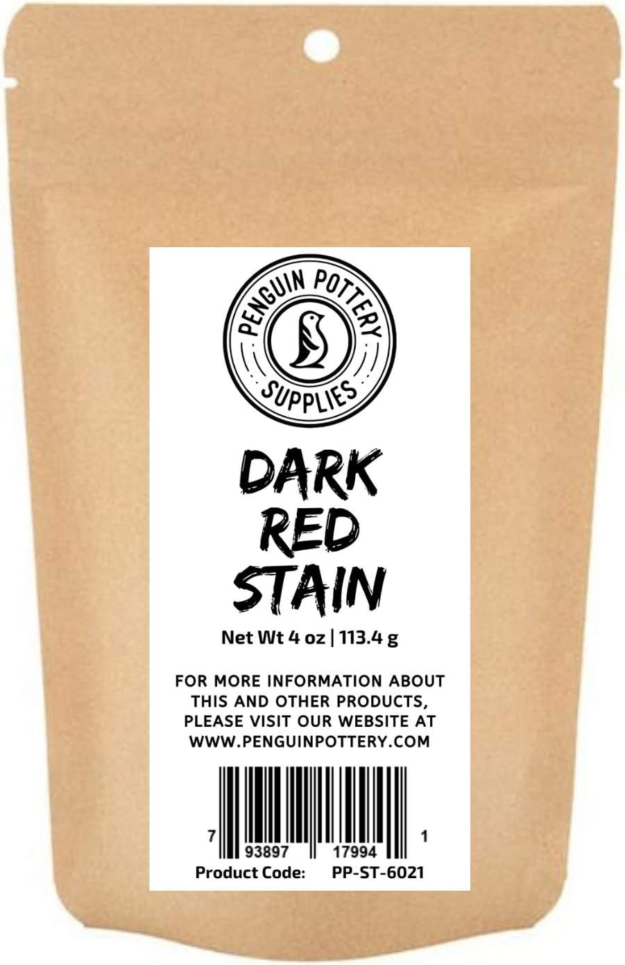 Penguin Pottery - Dark Red Stain - 1/4 lb- Colorant for Clay, glazes, Clay Slip