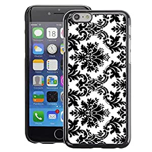 Planetar® ( Black White Stylish Classy ) Apple iPhone 6 / 6S (4.7 inches!!!) Fundas Cover Cubre Hard Case Cover