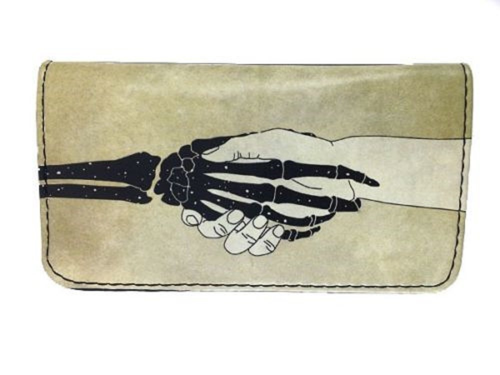 Tobacco Case Pouch Synthetic Leather Smoke For Rolling Cigars Hand VS Skull Hand