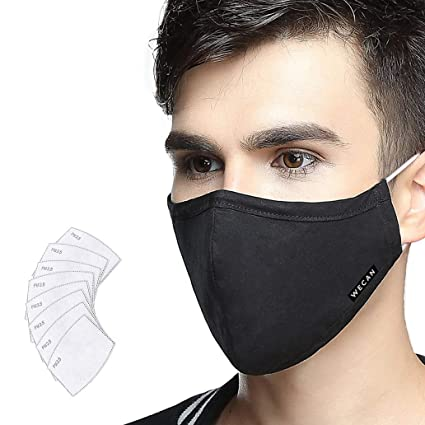 Máscara antipolución Lyanty Grado militar Máscara N99 Máscaras lavables de algodón para la boca Filtro reemplazable