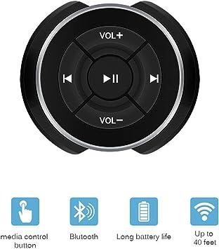 Hxq-top Botón Multimedia Bluetooth para Coche para Bicicleta de Coche Rueda Control Remoto de música para Tableta de teléfono: Amazon.es: Electrónica