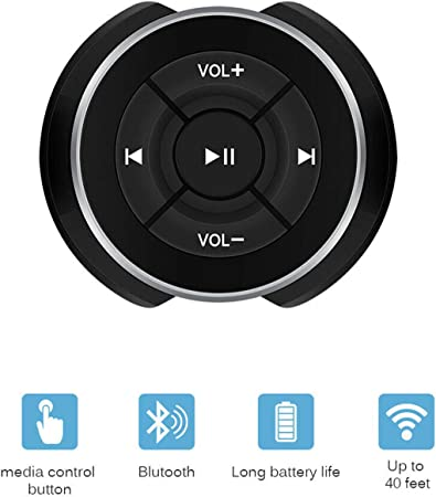 Hxq Top Auto Bluetooth Media Button Für Auto Fahrrad Elektronik