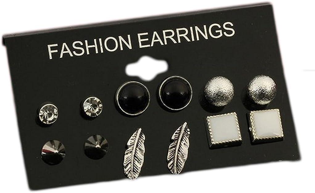 Cosanter Creative 6 Par Pendientes Six-Pack Accessories Earrings ...