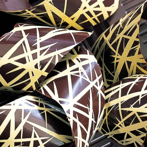Chocolate Transfer Sheet: Abstract Design, 17 Sheets - Gold by PCB (Image #1)