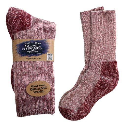 Maggie's Functional Organics Killington Mountain Hiker Socks Raspberry 10-13 - 3PC