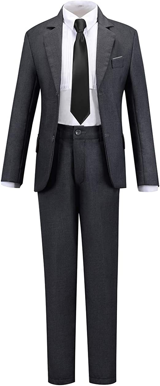 Boihedy Boys Formal Suit Set 4 Piece First Class Slim Fit Outfits