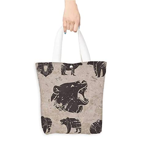 5081970f08d8 Amazon.com: Best Canvas Grocery Shopping Bags Different Bears in ...