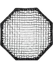 Stark reduziert: Rollei Profi Octabox 90 cm - Faltbare Schirm-Octabox (Octagon Softbox, Octagon Schirm) mit Bowens-Anschluss, 90cm Durchmesser, für Portrait- und Produktfotografie, inkl. Wabe (GRID) - Schwarz und mehr