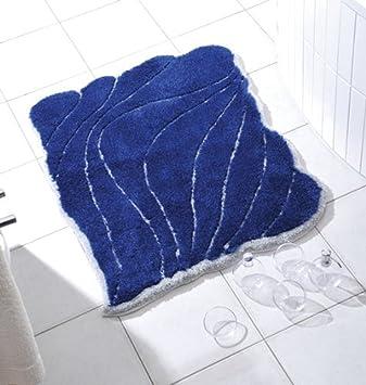 Nicol Badematte Badteppich Badgarnitur Badematte Yasmin Blau Silber