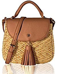 Women's Straw Crossbody Bag Woven Cross Body Bag Shoulder Top Handle Satchel