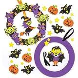 Baker Ross Kit per ghirlande di Halloween (Confezioni da 2) per creazioni Fai da Te e Decorazioni a Tema Halloween per Bambini