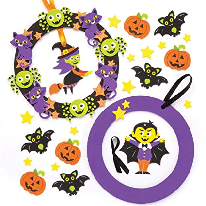 Amazon Baker Ross Halloween Wreath Kits Pack Of 2 For Kids