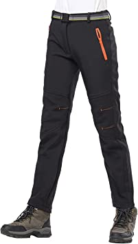 7vstohs Pantalones Con Forro Polar De Invierno Para Mujer Pantalones Impermeables De Cascara Suave De Senderismo Pantalones Casuales Clasicos De Esqui Calido Al Aire Libre Amazon Es Deportes Y Aire Libre