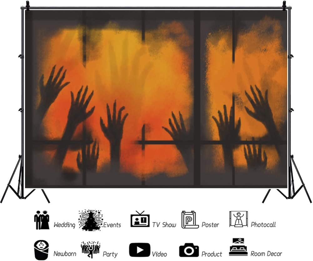 Yeele Halloween Zombie Backdrop 10x8ft Costume Party Horror Photography Background Halloween Eve Party Decoration Kids Adult Acting Show Photo Booth Props