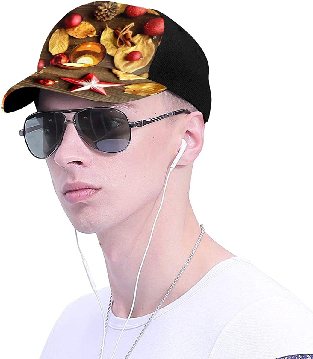 Gold Colored Leaves Decors Classic Baseball Cap Men Women Dad Hat Twill Adjustable Size
