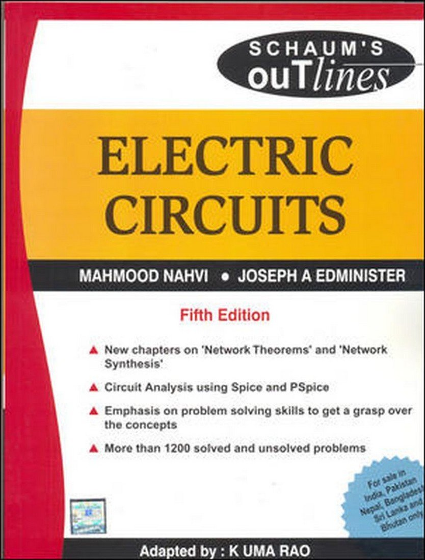Buy Electric Circuits Schaums Outline Series Book Online At Low Electrical Circuit Troubleshooting Basic 4 Prices In India Reviews Ratings