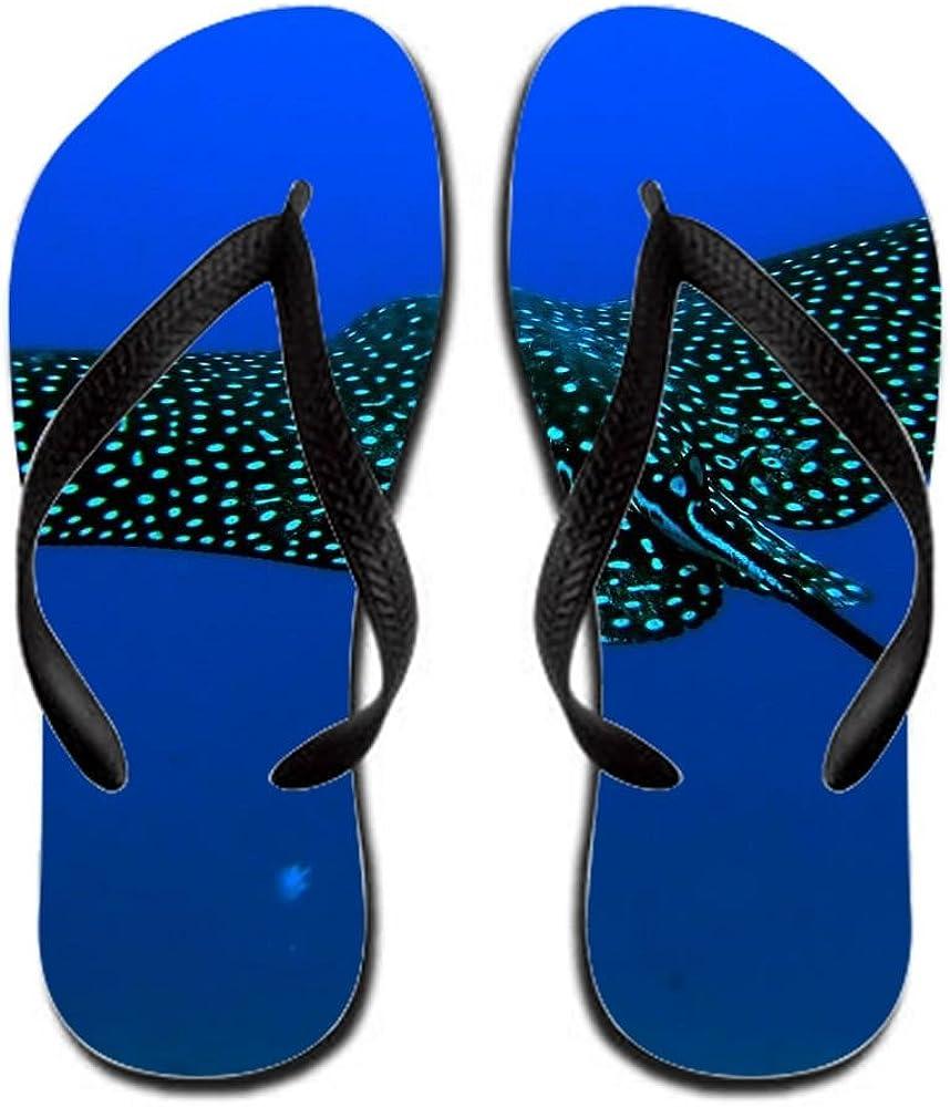 Animal Manta Ray Flip Flop 6.5