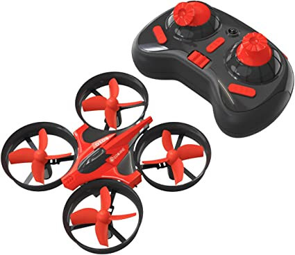 Eachine Mini Drones For Kids E010 2 4ghz 6 Axis Gyro Remote Control Best Quadcopter Nano Drone For Adults Beginners Headless Mode 3d Flip One Key Return Red Toys Games