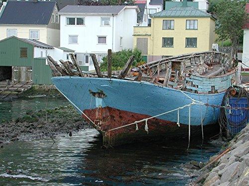 Home Comforts Laminated Poster Summer Faroe Islands Ships Poster Print 24 x ()