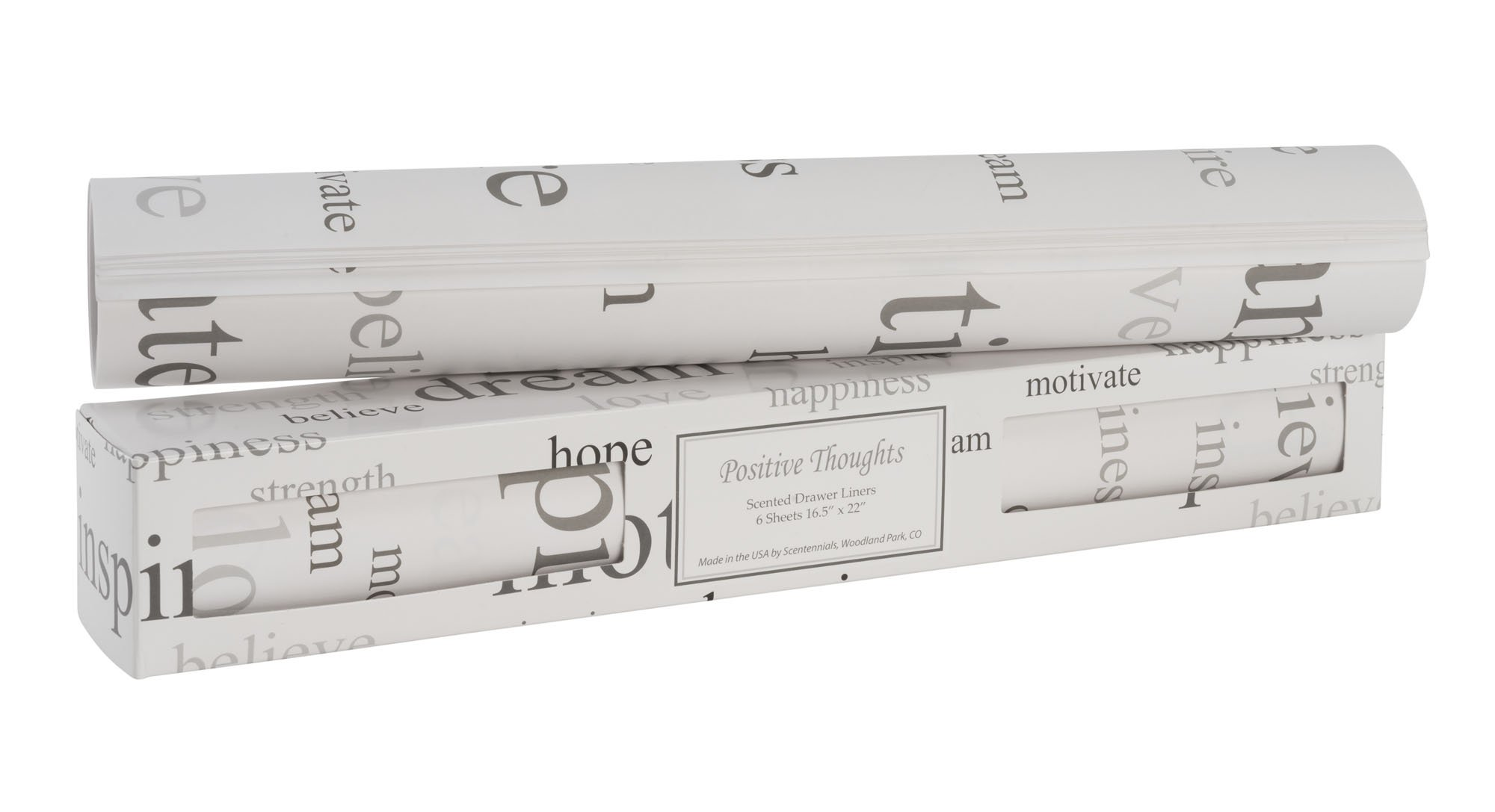 Scentennials Positive Thoughts (12 Sheets) Scented Drawer Liners by Scentennials Scented Drawer Liners