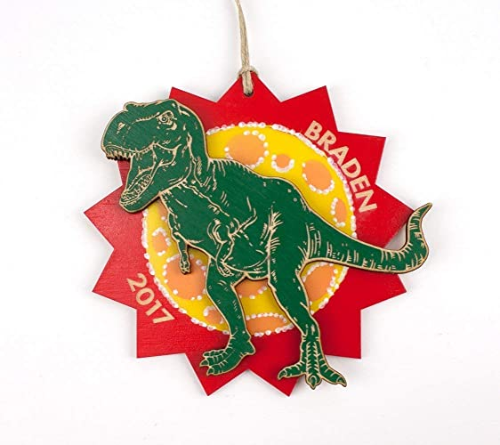 Image Unavailable. Image not available for. Color: Personalized Dinosaur  Christmas Ornament ... - Amazon.com: Personalized Dinosaur Christmas Ornament T-rex