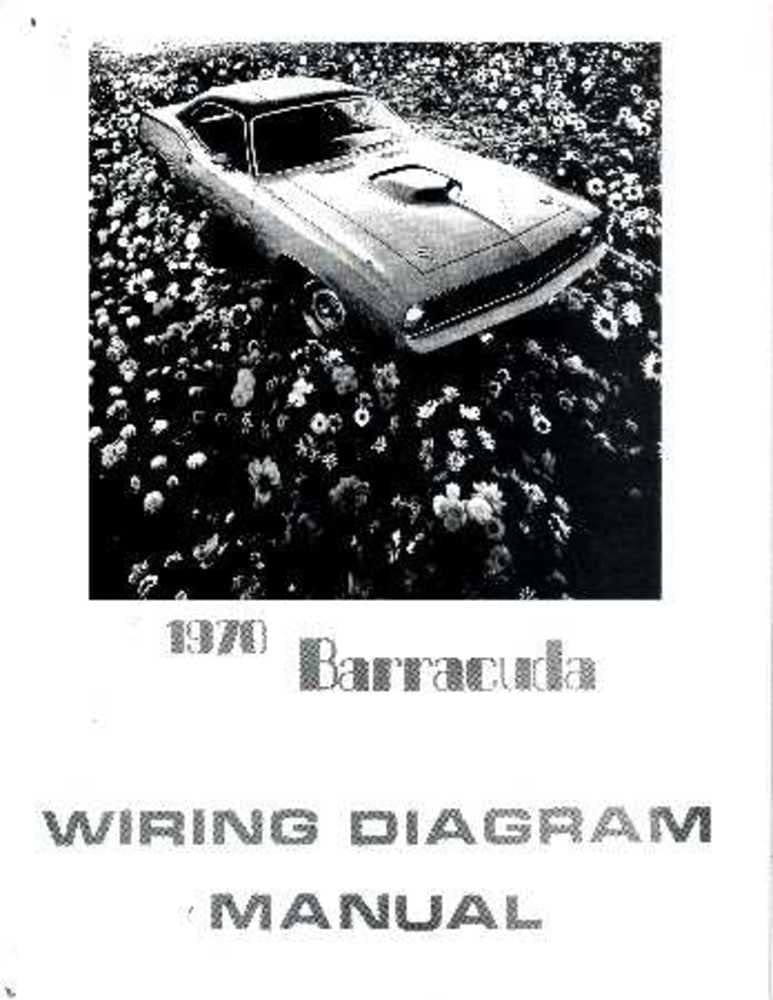 Amazon.com: bishko automotive literature 1970 Plymouth Barracuda Electrical  Wiring Diagrams Schematics Factory OEM Book: AutomotiveAmazon.com