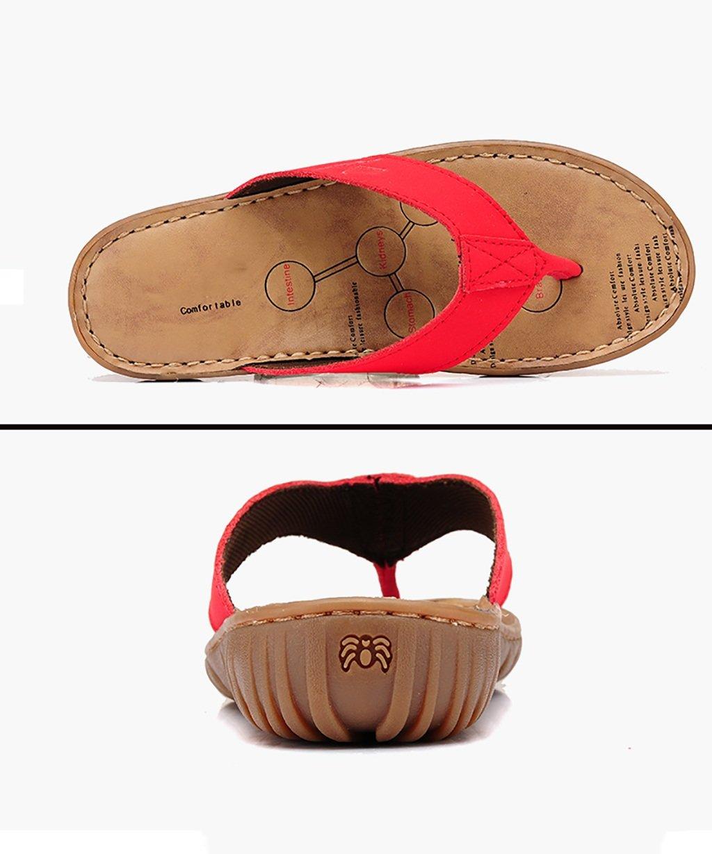 AJZGF Lässige Flip-Flops und Hausschuhe Stilvolle Weiche Sohlen mit Rutschfesten Rutschfesten Rutschfesten Mutterschaftssandalen Bequeme Flache Schuhe aus Rindsleder. (Farbe   C Größe   EU36 UK4-4.5 CN37) c1d1df