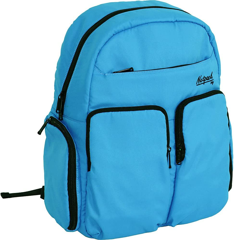 Blue Netpack Soft Lightweight Day Pack with RFID Pocket